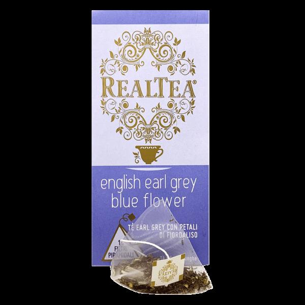 confezione tè piramidale english earl grey blue flower