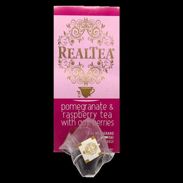 tè piramidale pomegranate & raspberry tea with goji berries