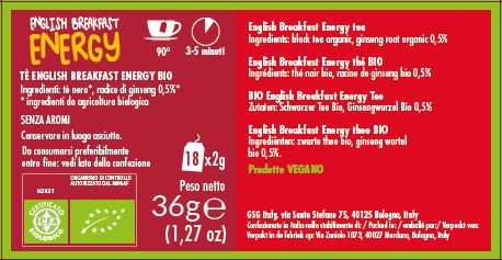 Realtea BIO English Breakfast energy