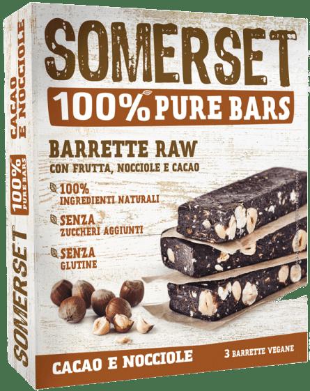 Barrette Raw Nocciole e cacao x 3