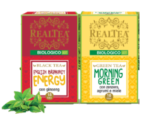 Tè biologici English Breakfast e Morning Green